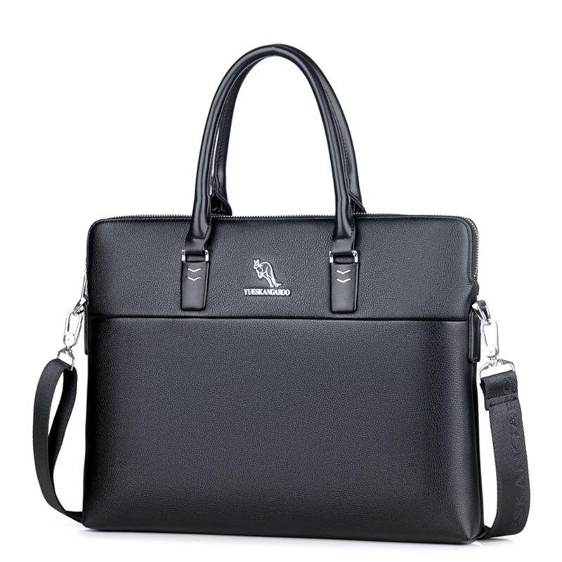 Mode affaires porte-documents pour homme en cuir pochette d'ordinateur décontracté homme Totes Vintage noir voyage porte-documents Messenger sacs à bandoulière