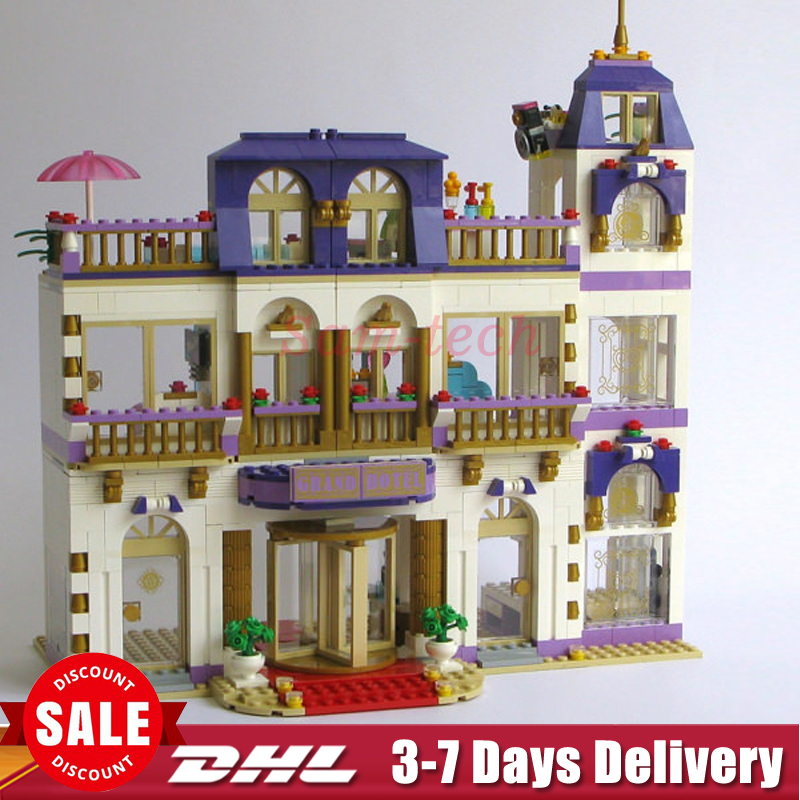 2018 In-Stock Lepin 01045 1676Pcs Girls Series The Heartlake Grand Hotel Set Children Eucational Building Block Brick Toy Model lepin 01045 1676pcs girls series heartlake grand hotel set children eucational building blocks bricks toys model gift 41101