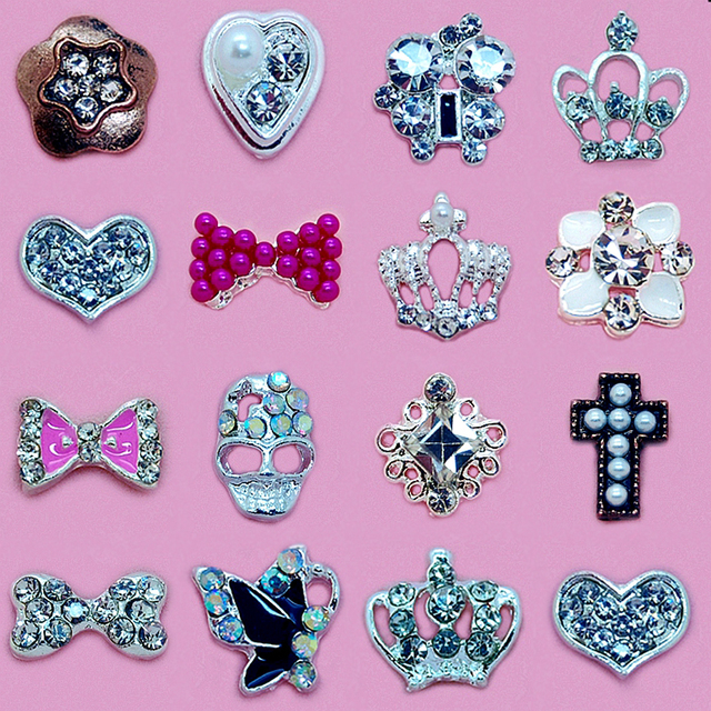 10pcs Metal Glitter Jewelry Nails Accessoires Rhinestone For 3d Nail