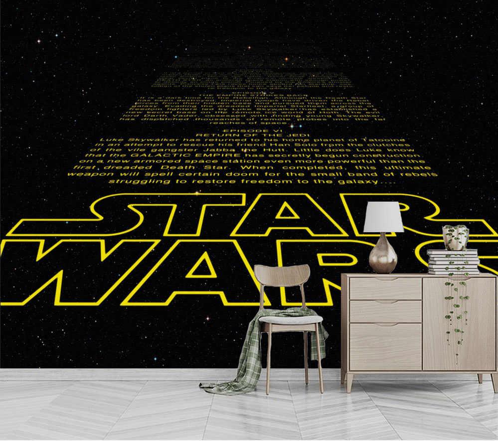 Custom Photo Wall Paper 3d Stereo Cartoon Shock Star Wars Mural Kid S Room Cafe Ktv Backdrop Wallpaper For Walls 3 D Papel Tapiz Wallpapers Aliexpress