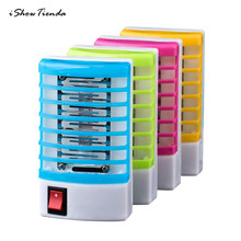 US LED Socket Electric Mosquito Fly Bug Insect Trap Killer Zapper Night Lights Mosquito Repeller Lamp Killer Zapper Mosquito Net цена в Москве и Питере