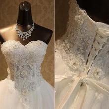 2019 Vestidos de Novia Charming Flower Appliques Princess Wedding Dress Beautiful Beading Embroidery Elegant Lace Gown