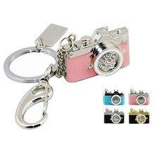 Mini pendrive metálico de câmera, câmera de metal de diamante, usb, armazenamento de memória, 8gb 16gb, presente, moda em disco u chaveiro pen drive,