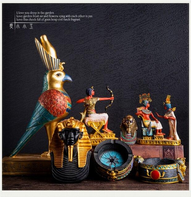 US $27 0 10% OFF|Ancient Egyptian Gods Statue Tutankhamon Horus Anubis  Bastet Taste Ornament ins Style Simple Decoration-in Figurines & Miniatures