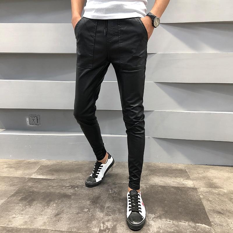 Pants Men Men's Trousers Harem Hip-Hop Winter Casual Slim-Fit Autumn 40 Drawstring Brand-New