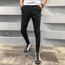 Marka Yeni PU deri pantolon Erkekler Sonbahar Kış Slim Fit Casual Erkek Joggers Pantolon İpli Hip Hop Harem Pantolon erkek pantolon 40