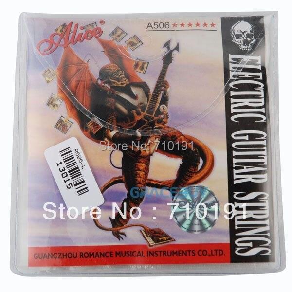 Alice A506-L A506L Electric Guitar Plate Steel Core Nickel Alloy Wound 6 Strings Set (010-046) New encordoamento