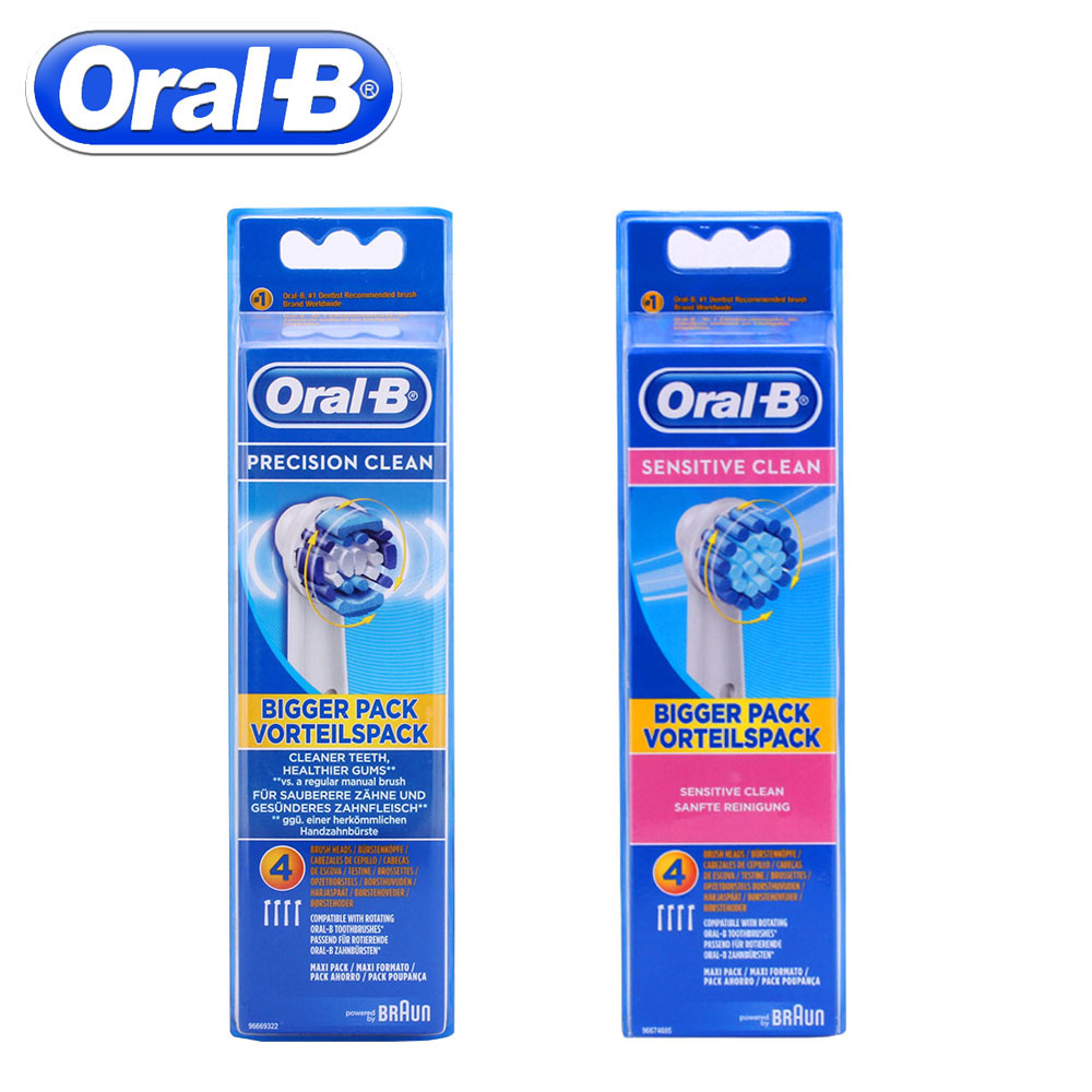 4pc/Pack Oral B Electric Toothbrush Heads For Braun Oral B Precision Clean Rotation Sensitive Replacement Electric Toothbrush