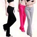 Fshion Mulheres Moda das Calças casuais Longo Calças de Algodão Macio