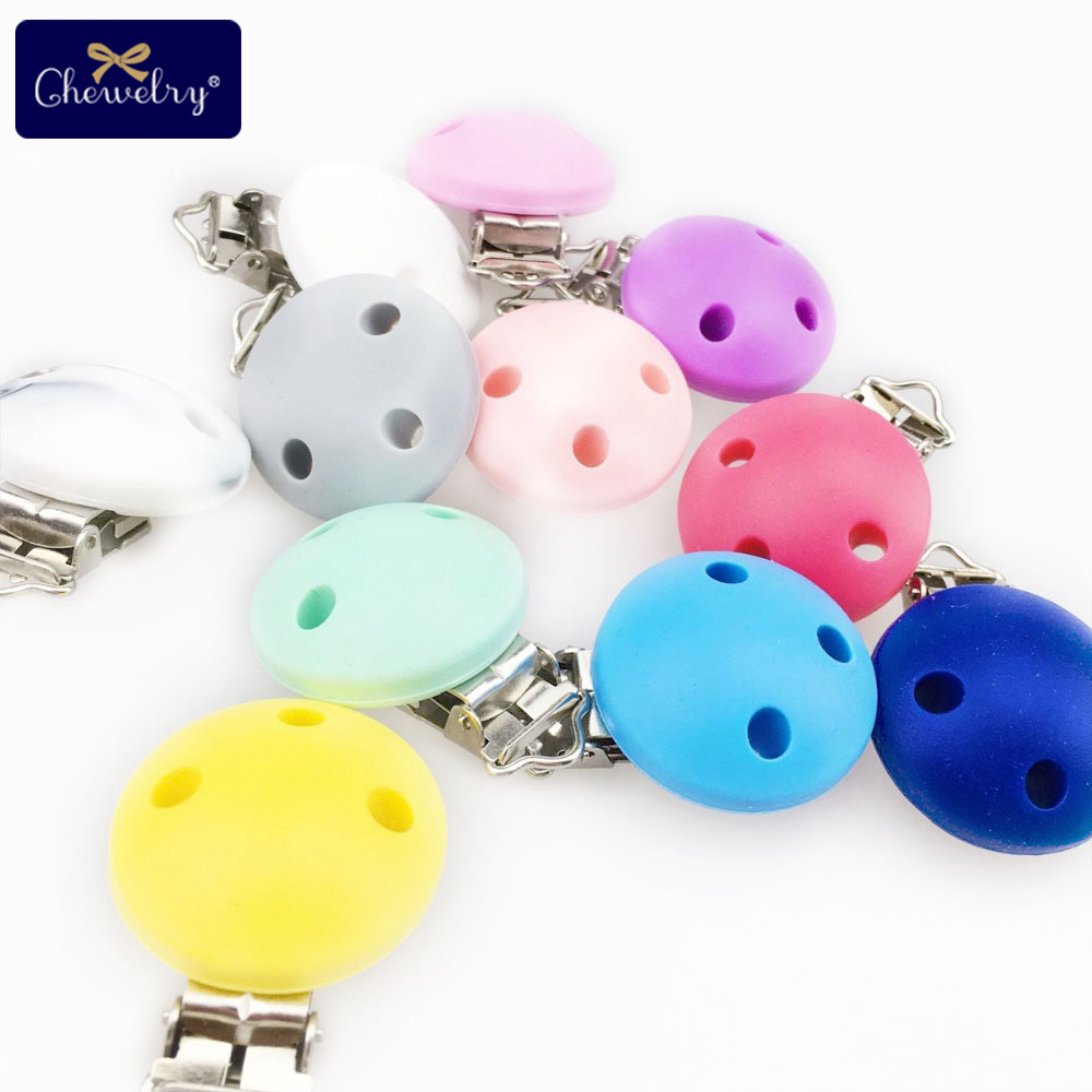 20pc Baby Silicone Pacifier Clip Food Grade Perle Silicone Bead Teething Nipple Holder Nursing Baby Teether Children's Goods Toy
