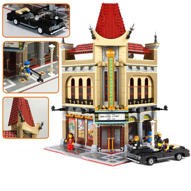15006 Creative Street Series Building Blocks Palace Theater Cinema Model Lepin Bricks Toys Compatible Children Christmas Gifts 2016 new lepin 15006 2354pcs creator palace cinema model building blocks set bricks toys compatible 10232 brickgift