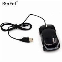BinFul модная Проводная компьютерная USB мышь в виде автомобиля 3D Автомобильная Форма USB оптическая игровая мышь Мыши для ПК ноутбука компьютера