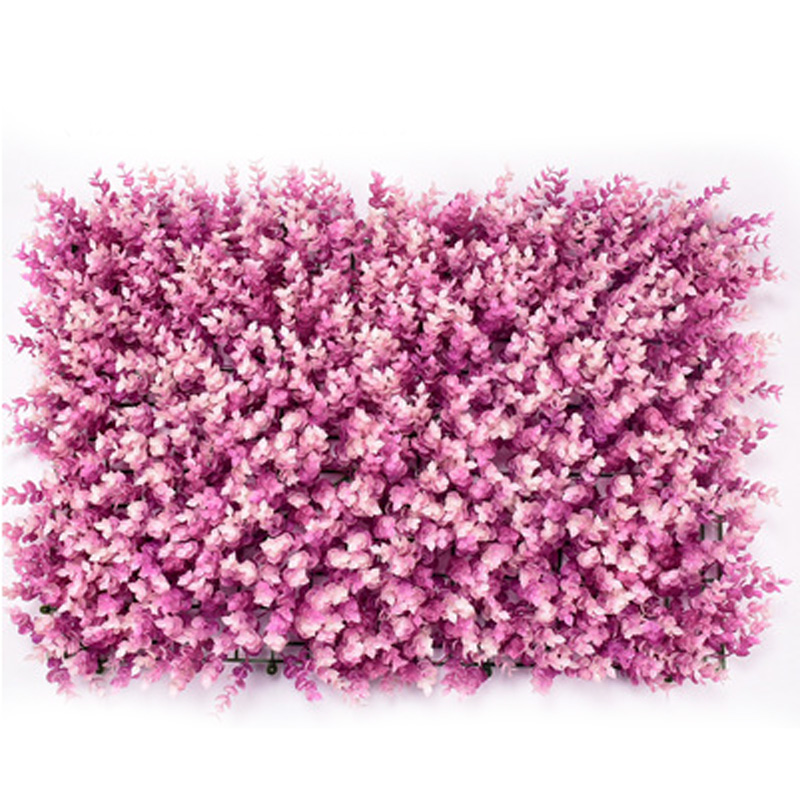 US $9 09 16% OFF|Artificial Plastic Plant Grass Flower Wall Panels Wedding  Background Decor-in Artificial & Dried Flowers from Home & Garden on