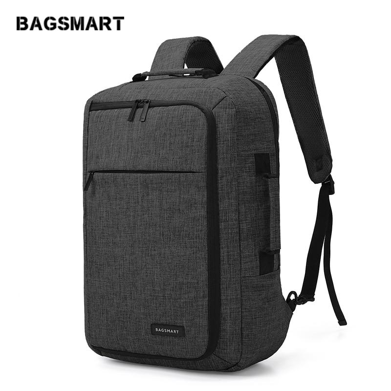 BAGSMART 15.6 Inch Laptop Backpack Multifunctional Bolsa Travel Business Bags Mochila for Notebook Rucksack School Bag