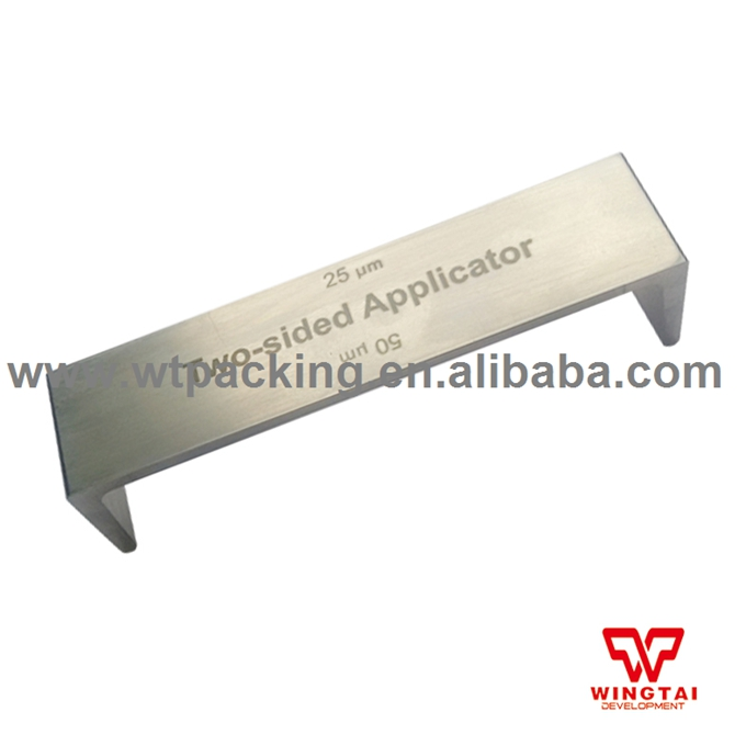 Double Side Wet Film Applicator Paint Coating Film Tster 300,400 micron BGD202/4 bgd202 1 stainless steel double side wet film applicator have other spec for your choice