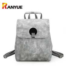 Женщины рюкзак высокое качество PU кожаные рюкзаки женский плечо школьная сумка для девочек-подростков Малый школьная сумка рюкзак Mochila