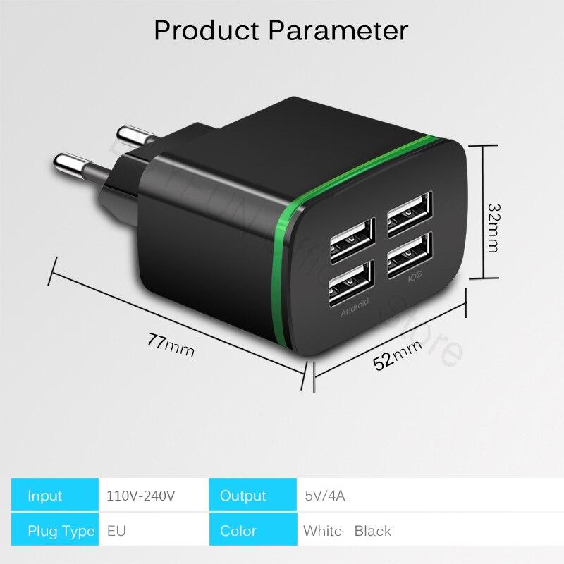 5 В/4A Quick Charge стены Зарядное устройство кабель телефон Зарядное устройство быстрой зарядки Micro-USB кабель для samsung Xiaomi android Мощность адаптер Шну...