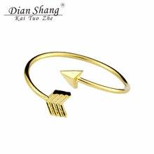 DIANSHANGKAITUOZHE Copper Bijoux Femme Rose Gold Anel Vintage Adjustable Tiny Arrow Wrap Knuckle Rings For Women Men Jewelry