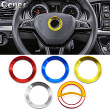 Ceyes Auto Styling Stuurwiel Decoratie Sticker Ring Case Voor Skoda Octavia A5 A7 Fabia Rapid Yeti Superb Cover Accessoires(China)