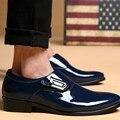 Hombres Oxfords Zapatos de Cuero Masculino Con Cordones de Punta estrecha Moda A Prueba De Agua Suave Verano Transpirable Para Hombre Zapatos de Negocio de La Boda