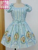 素敵な ベビー ドール ドレス甘い ロリータ ドレス日本の プリンセス パーティー ドレス クリスマス コス プレ衣装xs-2xl スカイ ブルー/ピン