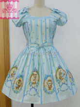 Lovely Babydoll Dress Sweet Lolita Dress Japanese Princess Party Dresses Christmas Cosplay Costume XS 2XL Sky