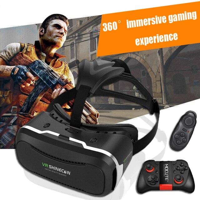 Shinecon VR 2.0 Виртуальная Реальность 3D Очки Google Картон Голову Горе VR 3.0 Шлем Кино Для 4.7-6.0 'Smartphone + Пульт Дистанционного