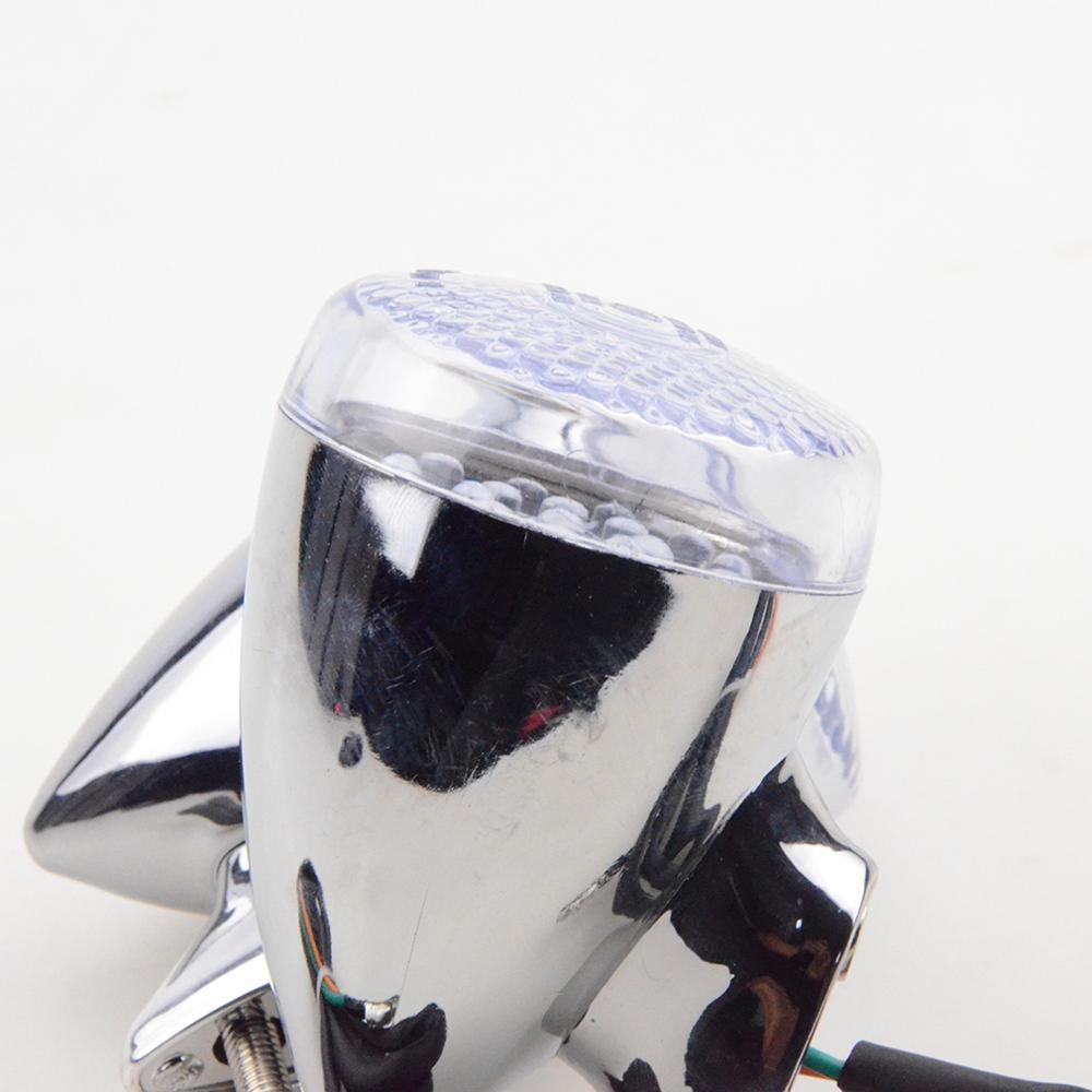 GOOFIT Chrome LED Tour Signal indicateur lumi/ère blanc pour moto universel pour v/élo scooter ATV