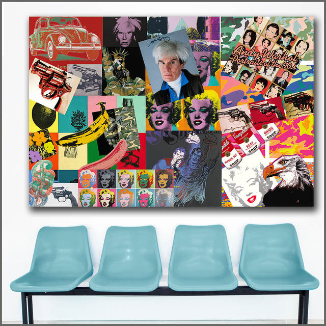 US $9 52 47% OFF|Large Printing andy warhol Portfolio of Works art Wall Art  Picture Home Decor Living Room Modern Canvas Print No Frame Paintings-in