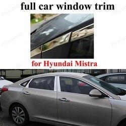Z centrum filar pełne ramy okna pokrywa osłonowa dla H hyundai Mistra ze stali nierdzewnej taśmy dekoracji