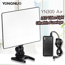 YONGNUO YN300 אוויר 3200 K 5500 K וידאו אור LED פנל עם מתאם מתח AC עבור צילום וידאו חתונה