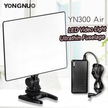 YONGNUO YN300 Hava 3200 K 5500 K LED Video Işığı Paneli için AC Güç Adaptörü ile Düğün Video Fotoğrafçılığı