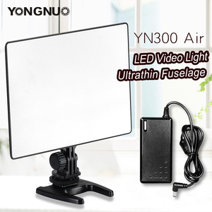 Image 1 - YONGNUO YN300 powietrza 3200 K 5500 K panel światła led wideo z zasilanie prądem zmiennym Adapter na ślub fotografia wideo