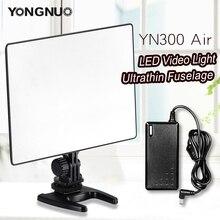 Yongnuo painel de luz de led para fotografia, luz de led para casamento yn300 air 3200k 5500k, adaptador de alimentação para fotografia de vídeo