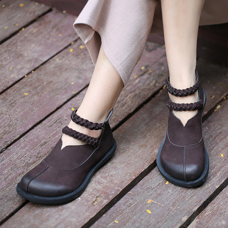 Women Genuine Leather Boots Autumn 2018 Black Low Heels Ankle Boots For Women Leather Martin Boots Shoes Handmade Retro Shoes elna silmic ii 25v 470 uf