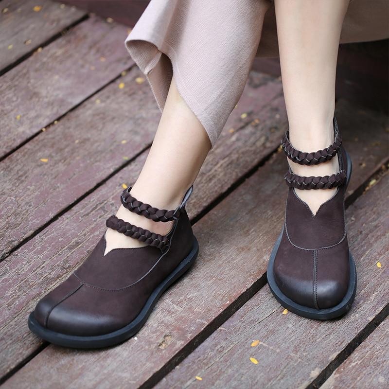Women Genuine Leather Boots Autumn 2018 Black Low Heels Ankle Boots For Women Leather Martin Boots Shoes Handmade Retro Shoes сыворотка для жирной зрелой кожи velour antiage homework 30 мл гп040132