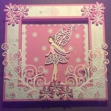 цены Fairy wing girl Carbon steel Cutting Dies Stencil Craft for DIY Creative Scrapbook Cut Stamps Dies Embossing Paper Hand Craft
