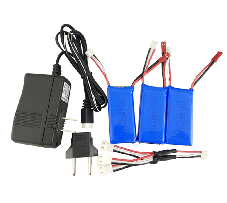 Yi Zhan Tarantula X6 3PCS 7.4V 1200mAh Battery and Charger H16 MJX X101 WLtoys V666 battery Four Axis Aircraft Parts for the mjx b3 helicopter 3pcs 7 4v 1800mah battery and the us regulatory charger with 1 care 3 line aircraft accessories xt30