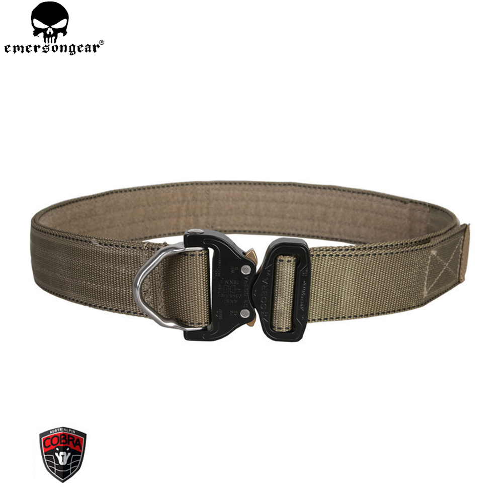 EMERSONGEAR Military D-Ring Riggers Belt 1.75 Inch Cobrabuckle Shooter Paintball Airsoft Wargame Emerson Belt Black EM9313 dibrera by paolo zanoli туфли