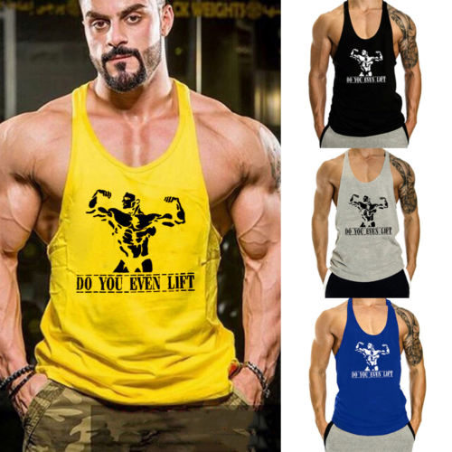 Hirigin 2018 New Men Stringer Bodybuilding   Tank     Tops   Gym Fitness Singlet Sleeveless Vest   Tank     Tops