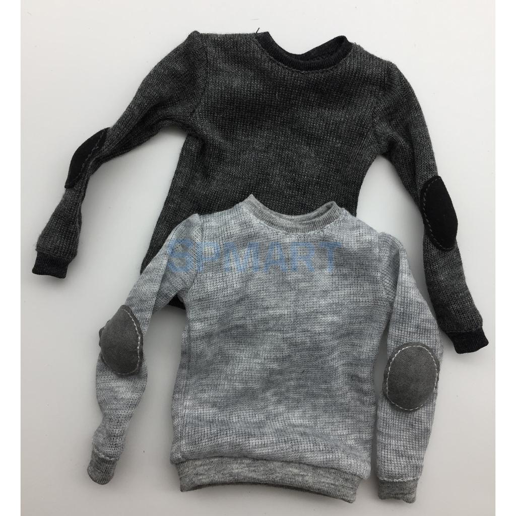 "1:6 Black Casual Wear Shorts Set for 12/"" Male Figure BJD Toy Belt T-Shirt"