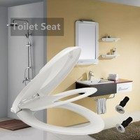V shaped Adult Thicken Toilet Seat Cover with Built in Child Potty Training Seat Replacement Universal Slow Close Toilet Seats