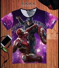 Men font b T b font font b Shirts b font Marvel Super Heroes font b