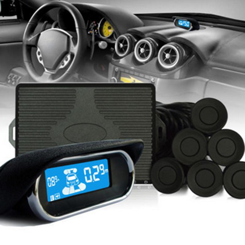 Car Parking Sensors 8 Weatherproof Rear Front View Reverse Backup Radar Kit With Digital LED Display