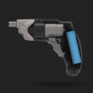 Image 4 - Youpin Tonfon Taladro Inalámbrico eléctrico inalámbrico pistola de impacto branquias destornillador de potencia con Bits 1500mAh batería recargable