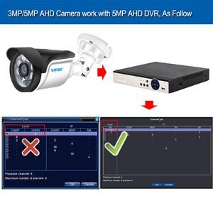 Image 5 - Smar New Super HD 3MP/5MP AHD Camera Waterproof 6* Nano IR LEDS Security Camera  AHDH System Video Surveillance With Bracket