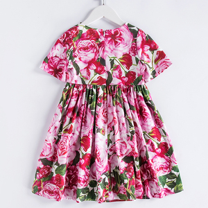 Image 2 - Beenira אירופאי ואמריקאי סגנון שמלת 2020 ילדי קיץ קצר שרוול פרח להג מסיבת שמלת עיצוב 4 14Y תינוק בגדים