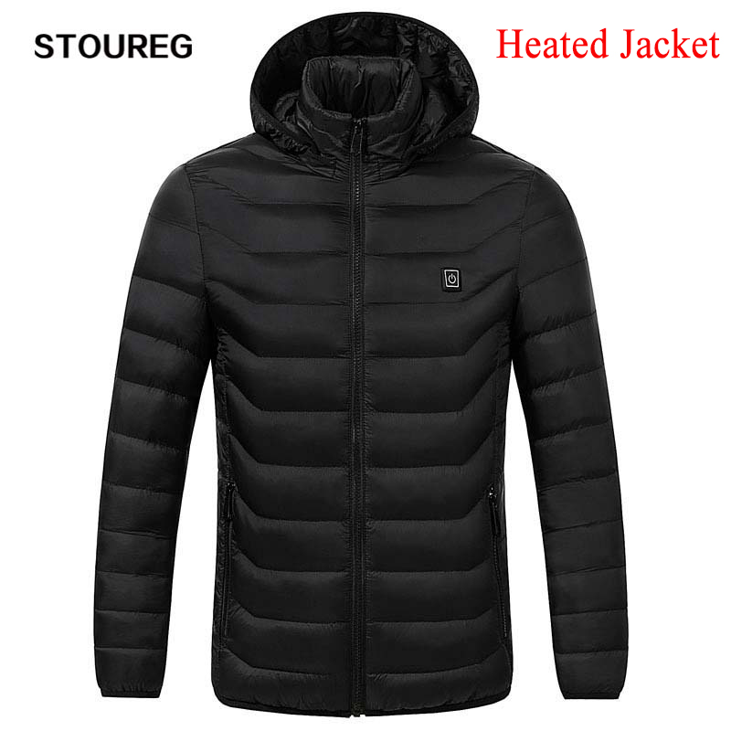 Men's Fleece Jackets Waterproof Winter Heated Jackets Thermal Heating Clothing Skiing Coat Men Hiking Jacket S-3XL 2Colors(China)