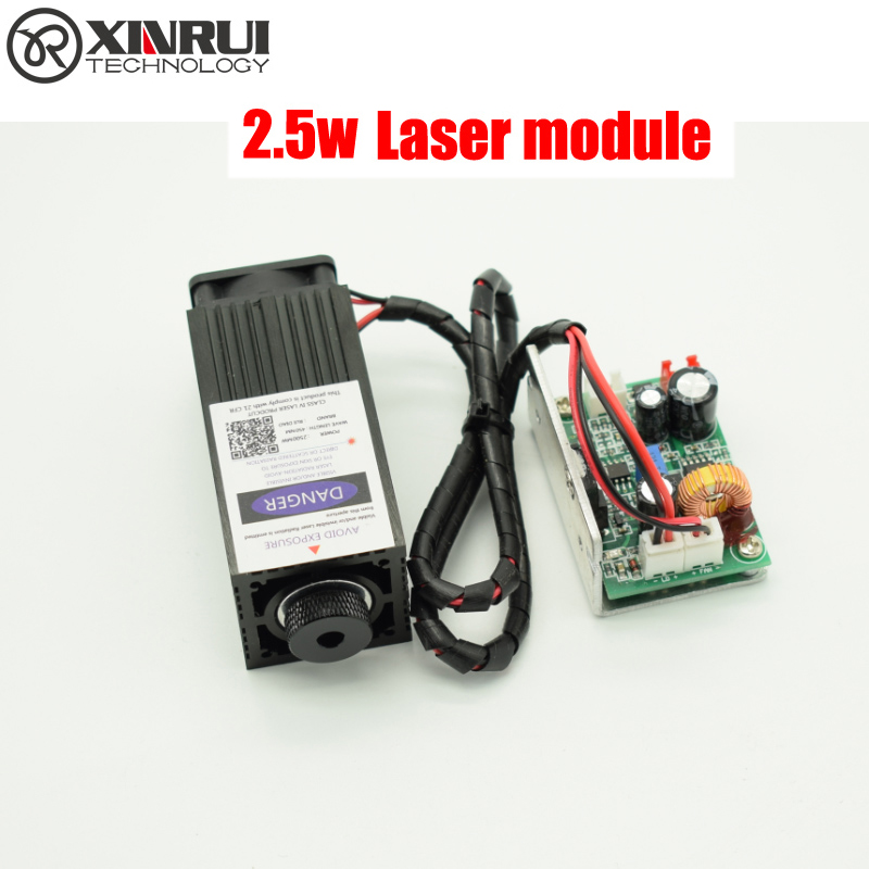 2.5w High Power 450NM Focusing Blue Laser Module Laser Engraving And Cutting TTL Module 2500mw Laser Tube+laser Protect Goggles