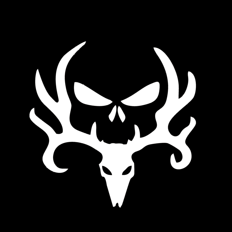 HotMeiNi 16x16cm Deer Hunt Hunting Punisher Decal Car Sticker White Truck Car Decal Black/Sliver ...
